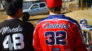 Chadwick poses next to Transworld Motocross with his personalized Troy Lee Designs Supercross jersey.