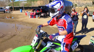 Chadwick of X-Factor's Emblem 3 geared up in Troy Lee Designs.