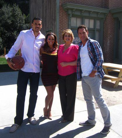 Matt Barnes and Gloria Govan with Hallmark Home and Family hosts Mark Steines & Cristina Ferrare.