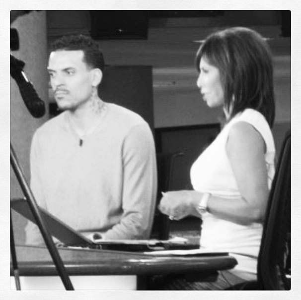 Laura Diaz interviewing Matt Barnes on Studio 11 LA Monday.